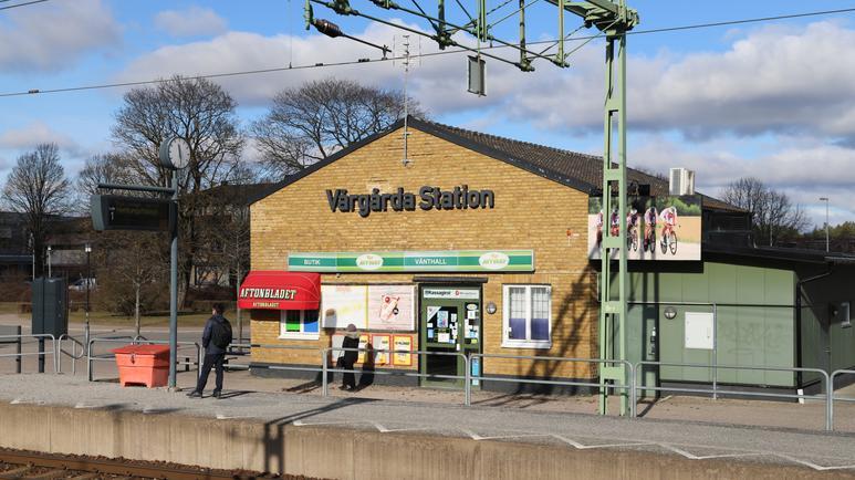 Ett stationshus på Vårgårda järnvägsstation