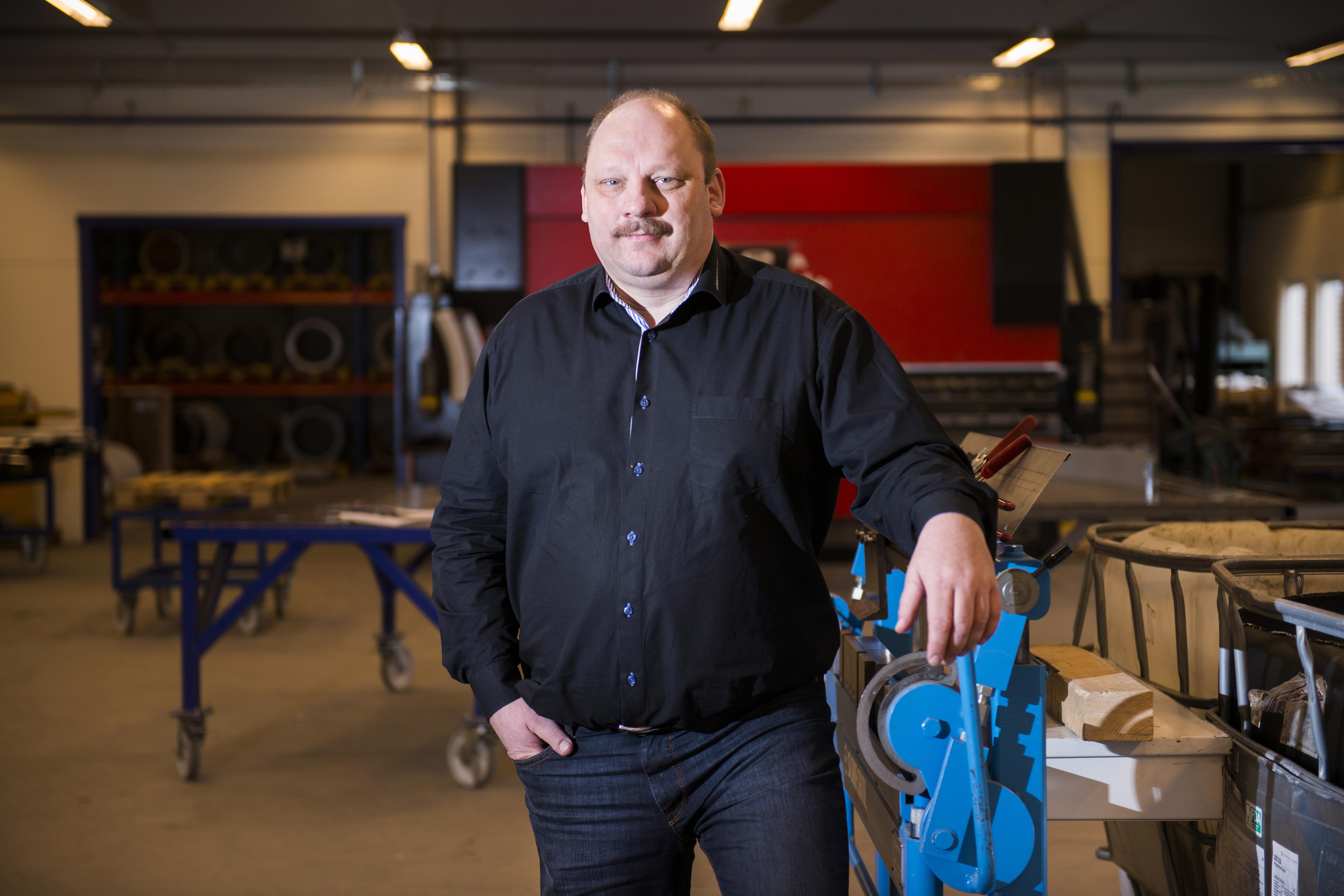 Jörgen Rasmusson, vd och ägare Lödde Plåt.