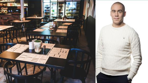 Henrik Navjord och genere från restaurang