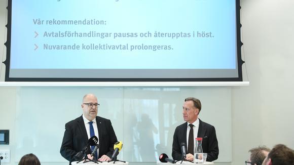 LO:s ordförande Karl-Petter Thorwaldsson och Svenskt Näringlivs vd Jan-Olof Jacke.