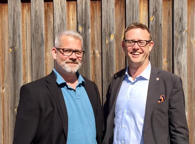 Jonas Ek, projektledrae och Sebastian Nordgren, inköpschef på Nacka kommun.