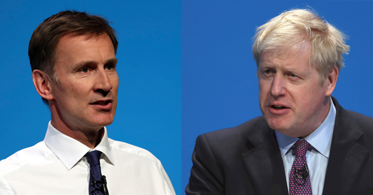 Boris Johnson och Jeremy Hunt