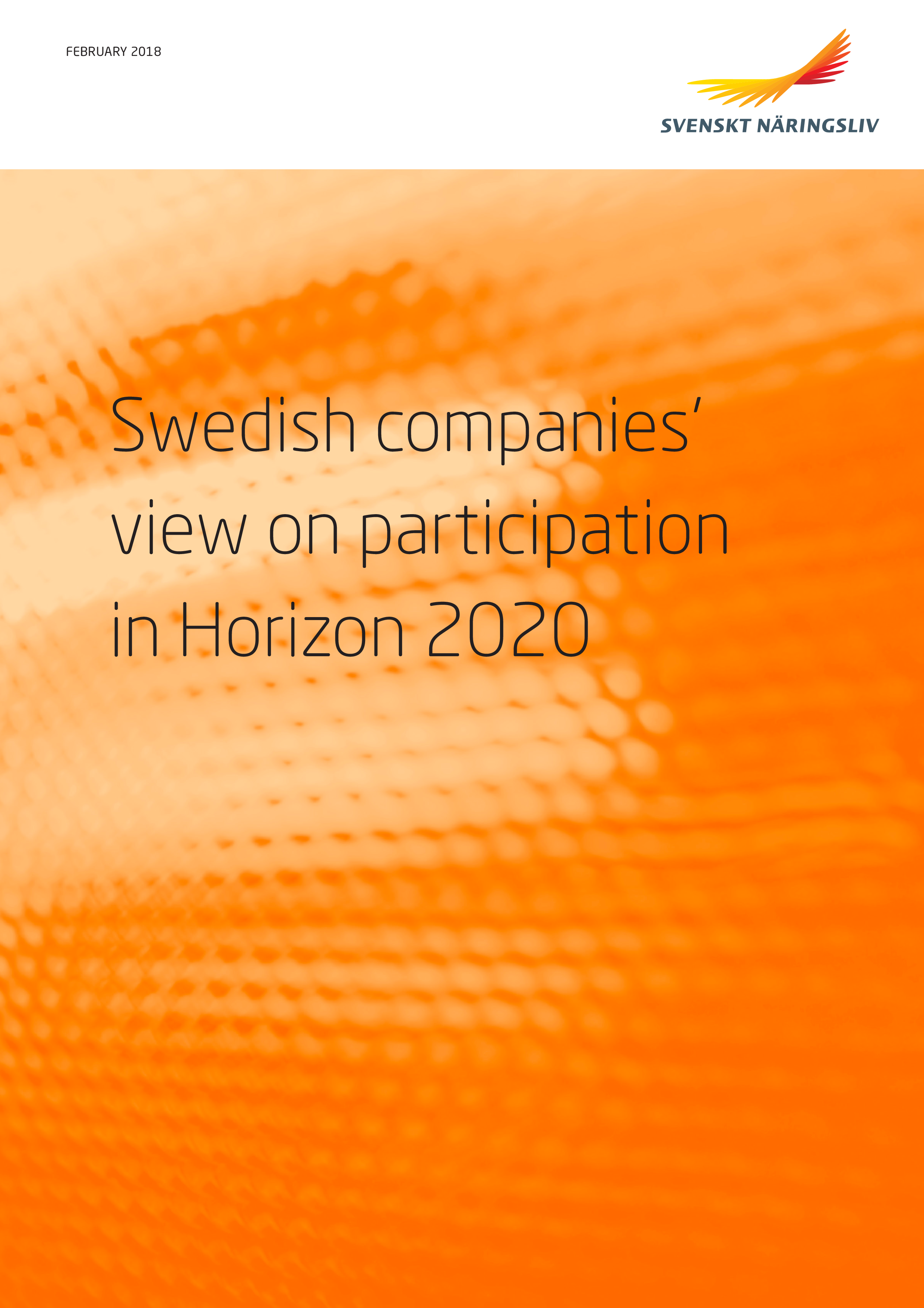 Swedish companies view on participation in Horizon 2020