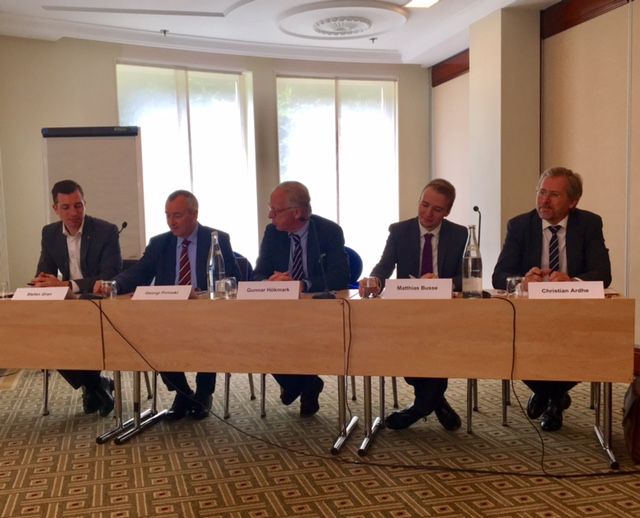 Among the speakers were Georgi Pirinski, Member of the European Parliament, Mattias Busse, CEPS, Christian Ardhe, Heimdal European Affairs and Stefan Gran from the German trade union DGB.