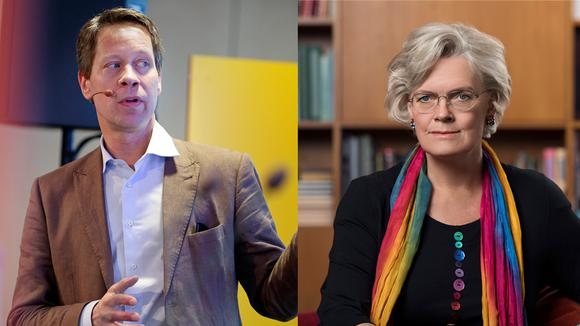 Carola Lemne och Johan Fall