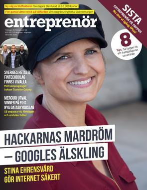Omslag tidningen Entreprenör nr 10 2017.