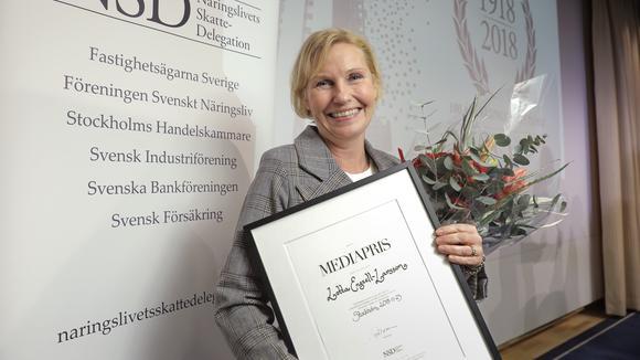 Lotta Engzell Larsson, ledarskribent på Dagens Industri