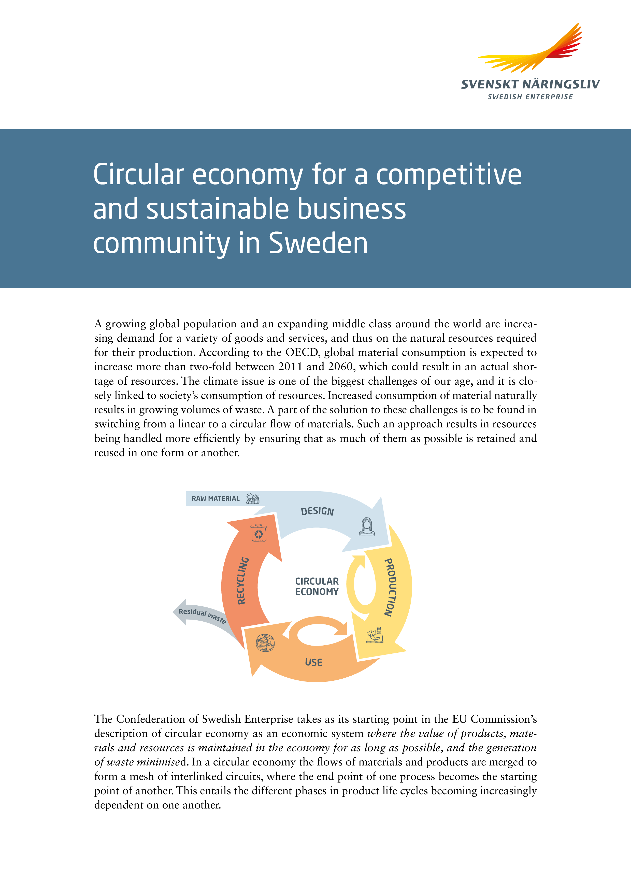 Circular economy for a competitive and sustainable business sector in Sweden - short version