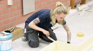 Kvinna i byggsektorn