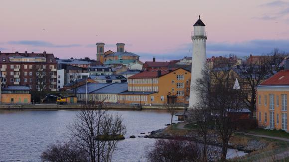 Skyline Karlskrona city