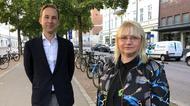 Mattias Durnik, näringslivsdirektör i Gävle kommun och Kommunalrådet Helene Åkerlind (L)
