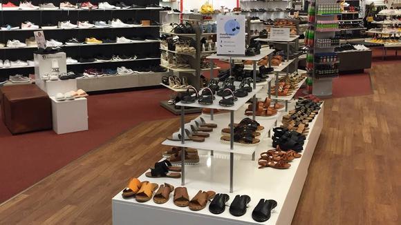 Berglunds Skor, butiken i Söderhamn.