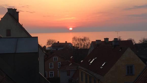 Soluppgång över Visby