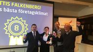 Överlämnandet av pokalen i Falkenberg 2020