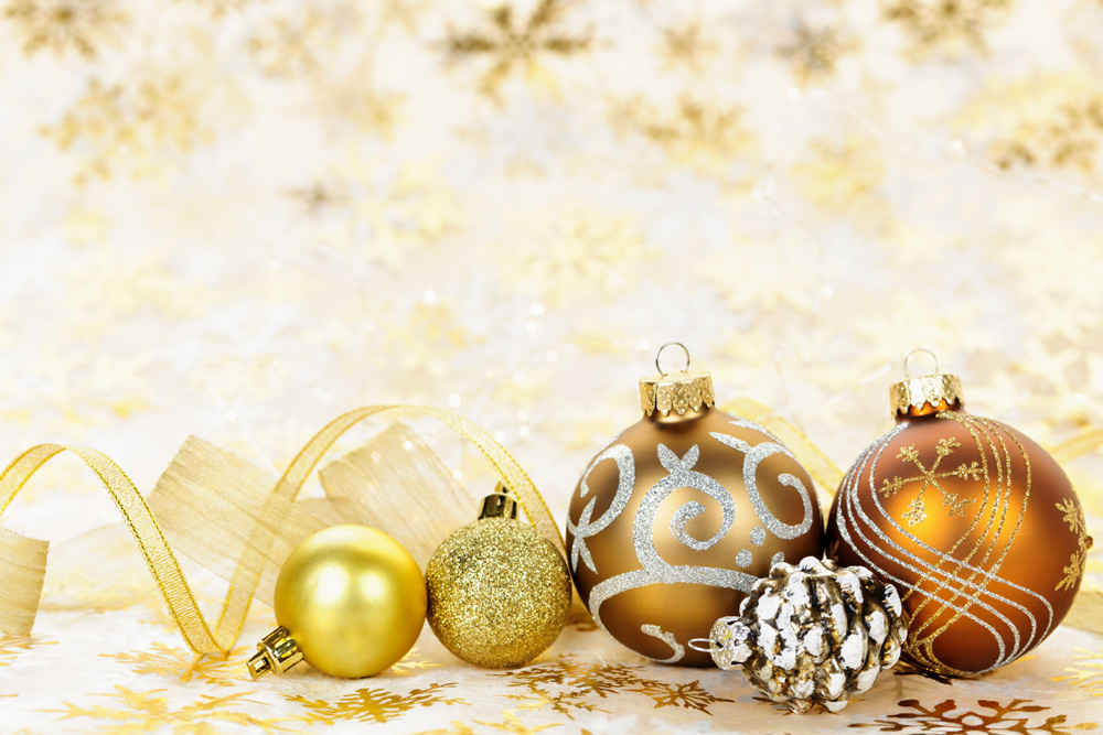 4089648-golden-christmas-ornaments-background