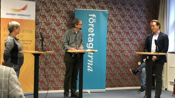 RosMarie Lundqvist, Sundhetsbolaget och Johan Millgårdh, Millcon deltog i debatten