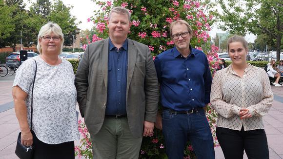Lena Wallentheim, Lars Johnsson, Stefan Larsson och Sandra Holm