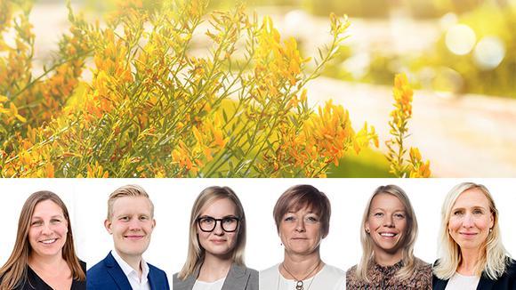 Sophie Ståhle, Erik Hultgren, Ellen Dahl, Carina Centrén, Carola Netterlid och Kristina Björkander.