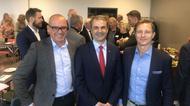 Douglas Heilborn, vd Oxelösunds Hamn, Ibrahim Baylan, näringsminister, Björn Lindgren, Svenskt Näringsliv.