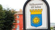 Vägskylt: Välkommen till Solna