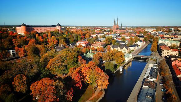Vy över Uppsala
