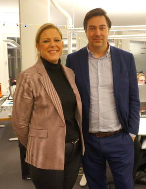 Lenita Jansson Herlitz och Mikael Westöö i kontorslokalerna för Svensk E-identitet.