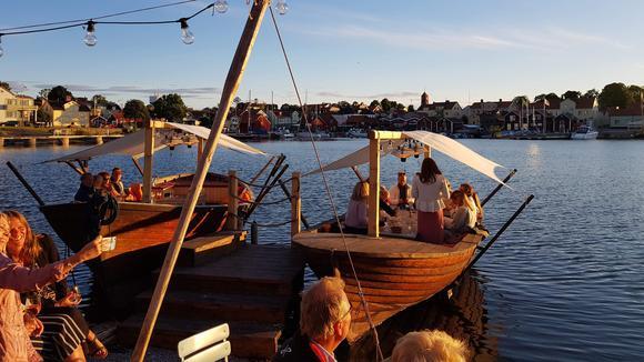 Restaurang Strandnäras fiskebåtar