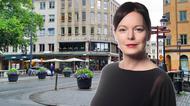 Photomontage på Anna-Lena Holmström och en bild från Uppsala city
