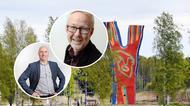 Collage - Foton på Andreaz Strömgren och Stefan Eriksson, i bakgrunden bild på Y:et