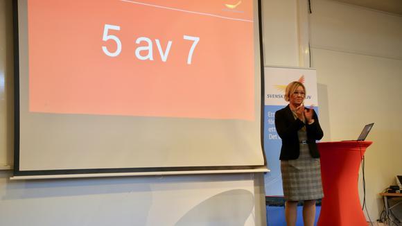 Anna Hedensjö Johansson presenterar resultatet av årets ranking av företagsklimatet.