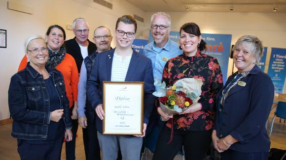 Johan Andersson i mitten tillsammans med medarbetare från Sollefteå kommun