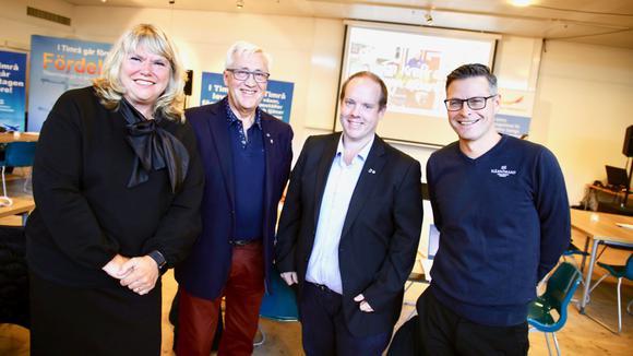 Petra Forsström, Ingemar Wiklander, KD, Andreas Sjölander, och Jonas Wessling