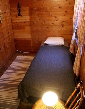 Ett av rummen i drängstugan