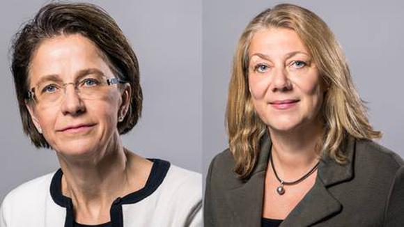 Birgitta Laurent och Ellen Hausel Heldah